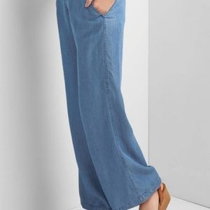Micheal Kors Chambray Wide Leg Pants Jeans